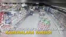 Denizli Acıpayam'daki deprem anı kameralara yansıdı