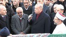 Erdoğan depremde hayatını kaybeden 2 kişinin cenaze törenine katıldı