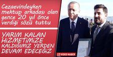Erdoğan 20 yıl önceki mektup arkadaşıyla buluştu