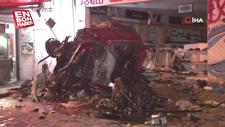 Esenyurt'ta kontrolünü kaybeden araç dükkana girdi