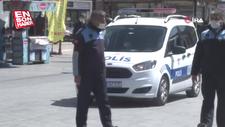 Esenyurt'ta polis'ten Arapça Evde Kal anonsu