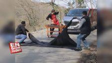 Etçi Burak'tan 'Zach King' tadında illüzyon gösterisi