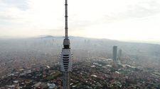 Çamlıca Kulesi'nde son durum havadan görüntülendi