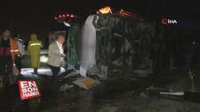 Yozgat'ta yolcu otobüsü kaza yaptı: 13 yaralı