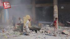 İdlib'e Esed rejimi ve Rus hava saldırıları sürüyor
