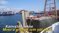 Kamıştan tekne Mısır'a gitmek için yol çıktı