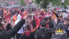 Almanya'da Galatasaraylı taraftarlar şampiyonluğu kutladı