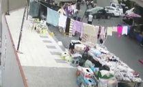 Pazar yerine dalan sürücü 8 kişiyi yaraladı