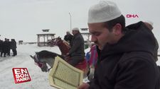 Atlı hafızlar Kur'an okudu