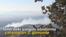 İzmir'deki yangını söndürme çalışmaları 3. gününde