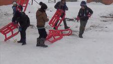 Şehit ve gazi çocuklarının kayak keyfi