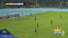 Malezya'da Pahang-Perak maçında atılan nefis gol