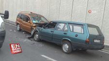 Bartın'da hatalı sollama: 2 araç kafa kafaya çarpıştı