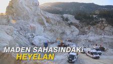 Maden sahasındaki heyelan