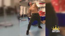 Fenerbahçeli Frey'in ilginç dansı