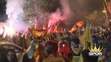 Florya'da şampiyonluk kutlamaları