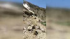 Hakkari'deki toprak kayması kamerada