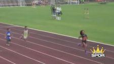 Geleceğin Usain Bolt'u hızıyla izleyenleri büyüledi