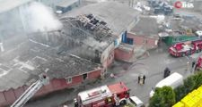 İstanbul'da metal kaplama fabrikasında yangın çıktı