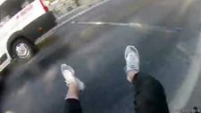 İstanbul'da motosikletli gencin metrelerce sürüklendiği kaza