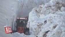 Abdulkadir Nişancı'nın kamerasından karla mücadele görüntüleri
