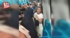 Metroda çarşaflı kadına saldırı