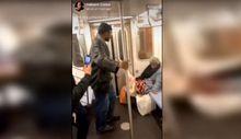 Kadının yüzüne defalarca tekme attı