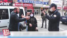 Kahramanmaraş'ta çocuğuyla sokağa çıkan babaya ceza