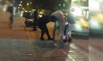 Kadınların cadde ortasındaki kavgası kamerada