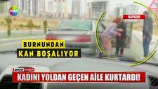 Kayseri'de sokak ortasında kadına şiddet