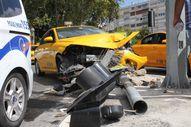 Kaza yapınca 'UBER sıkıştırdı' diyen taksici alkollü çıktı