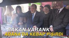 Bakan Varank Adana'da kebap pişirdi