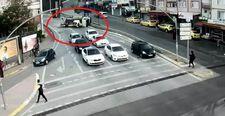 Kocaeli'de freni patlayan vinç, araçların arasına daldı