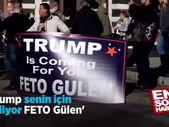 Pensilvanya'daki Trump destekçilerinden Gülen pankartı