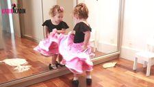 Küçük kızın flamenko tutkusu