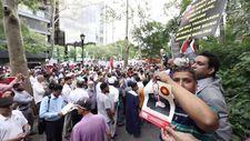 Amerika'da Arakan için Erdoğan afişleriyle protesto