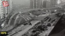 1974'te Mecidiyeköy Viyadüğü'nün yapım çalışmaları