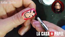 Dünyaca ünlü dizi 'La Casa De Papel maskesi tırnağınızda
