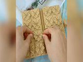 Origami sanatıyla yapılan defterden kutu