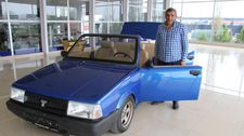 Elazığ'da hurda otomobil, lüks otomobile döndü