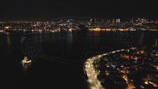 İstanbul'da 500 dronla ışık gösterisi