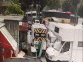 Bağcılar'da İETT otobüsünün kaza anı