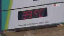 Elazığ'da termometreler 39 dereceyi gösterdi