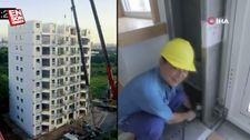 Çinli inşaat şirketi 28 saatte 10 katlı bir binayı bitirdi