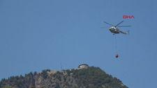 Antalya'da 1 dekar alan yangından zarar gördü