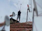Bursa'da televizyon tamircileri, martıların saldırısına uğradı