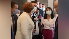 Meral Akşener'in korumalarından gazetecilere müdahale