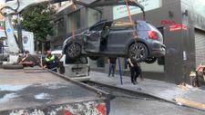Şişli'de kırmızı ışık ihlali yapan sürücü kazaya karıştı