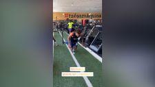 Gedson Fernandes, Galatasaray'ın ekipmanlarıyla çalışıyor