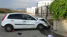 Antalya'da otomobille motosikletin çarpışması sonucu meydana gelen kaza